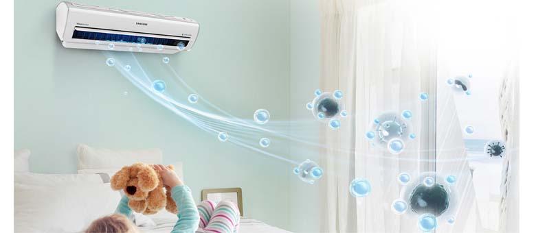 Climatiseur ar7500 samsung wifi embarqu de s rie et purificateur d 39 air - Clim reversible samsung ...