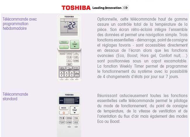 Toshiba Miraï clim